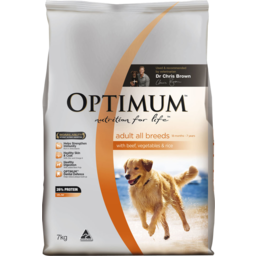 Photo of Optimum™ Adult With Beef Vegetables & Rice Dry Dog Food 7kg