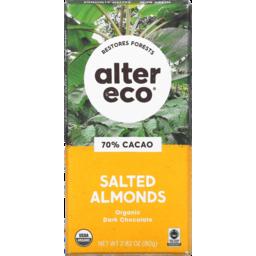 Photo of Alter Eco Chocolate Dark Salt Almond 80g