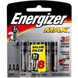 Photo of Energizer Max Alkaline Batteries Aaa Value 8pk