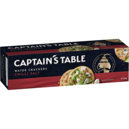 Photo of Captain's Table Water Crackers Chilli Salt 125g