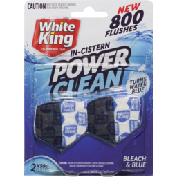 Photo of White King Power Clean 2x50g Blocks