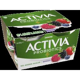 Photo of Danone Activia Probiotics No Added Sugar Berries Yoghurt 4x125g