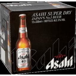 Photo of Asahi Beer Super Dry 12 x 330ml Bottles