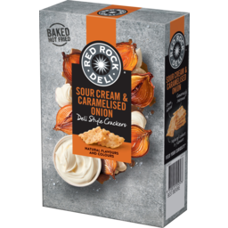 Photo of Red Rock Deli Sour Cream & Caramelised Onion Deli Style Crackers 135g