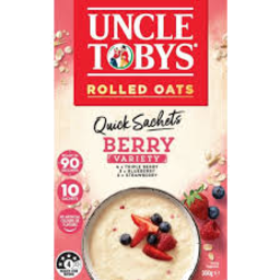 Photo of Uncle Tobys Rolled Oats Quick Sachet Berry Variety 10 Pack 350g