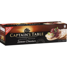 Photo of Bis Nabisco Captains Table Cracked Pepper Water Biscuits 125g