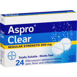 Photo of Aspro Clear Pain Relief 24 Soluble Effervescent Tablets