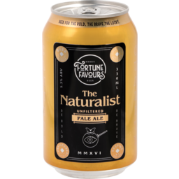 Photo of Fortune Favours The Naturalist Unfiltered Pale Ale Can 330ml