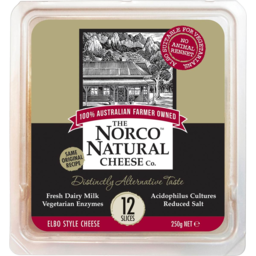 Photo of Norco Cheese Natural Slices 250gm