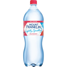 Photo of Mount Franklin No Sugar Raspberry Hint Of Natural Flavour Lightly Sparkling Water Bottle 1.25l