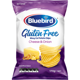 Photo of Bluebird Gluten Free Potato Chips Cheese & Onion 170g
