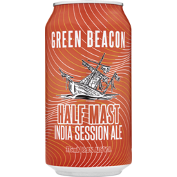 Photo of Green Beacon Brewing Co. Half Mast India Session Ale Cans
