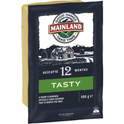 Photo of Mainland Tasty Cheddar Cheese 500 G