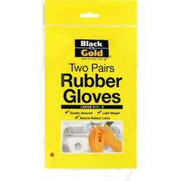 Photo of Black & Gold Glove Rubber Large 2pk