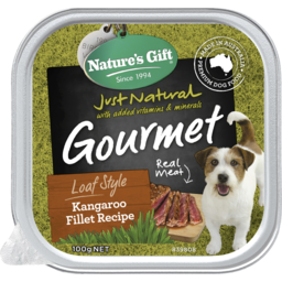Photo of Nature's Gift Gourmet Loaf Style Kangaroo Fillet Recipe Wet Dog Food 100g