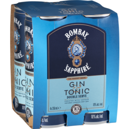 Photo of Bombay Gin & Tonic Double Serve 250ml 4 Pack