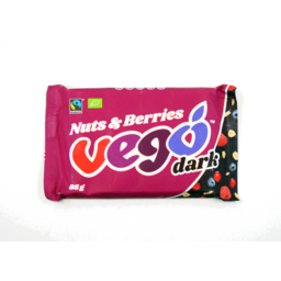 Photo of Vego Dark Chocolate With Nuts & Berries 85g