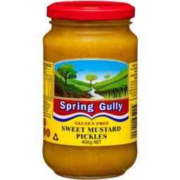 Photo of Spring Gully Gluten Free Sweet Mustard Pickles 400g