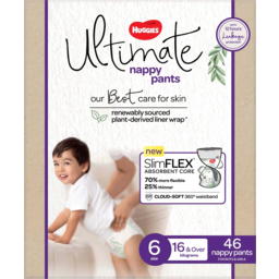 Photo of Huggies Ultimate Nappy Pants For Boys & Girls 16kg & Over Size 6 46 Pack