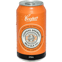 Photo of Coopers Mild Ale Can 24x 375ml