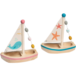 Photo of Wooden Toy Sail Boat