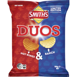 Photo of Smith's Duos Limited Edition Hot Wings & Ranch 150g