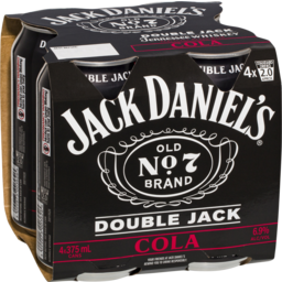 Photo of Jack Daniel's Double Jack & Cola Cans 4x375ml