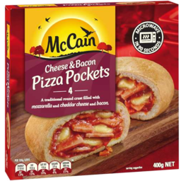 Photo of McCain Pizza Pocket Cheese & Bacon 400g