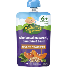 Photo of Rafferty's Garden Wholemeal Macaroni, Pumpkin & Basil 120g