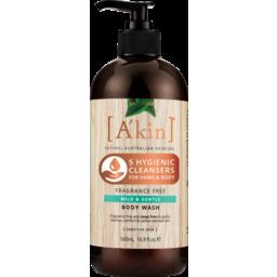 Photo of A'kin Fragrance Free - Mild & Gentle Body Wash 500ml