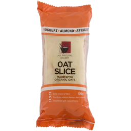 Photo of All Natural Bakery Oat Slice Yogurt Almond & Apricot 100gm