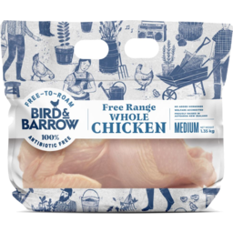 Photo of Bird & Barrow's Bagged Free Range Whole Medium Chicken 1.35kg