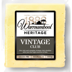 Photo of Warrnambool Vintage Cheese 250gm
