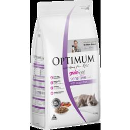 Photo of Optimum Grain Free Sensitive Dry Cat Food With Ocean Fish 1.8kg Bag