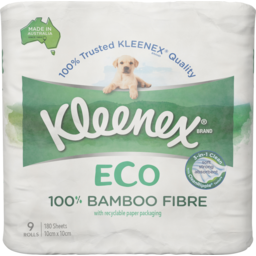 Photo of Kleenex Eco Toilet Paper With 100% Bamboo Fibre 9 Pack