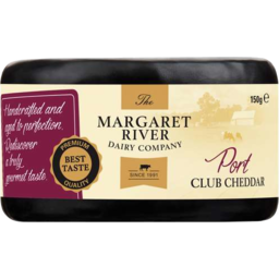 Photo of The Margaret River Cheese Port Club Cheddar (150g)