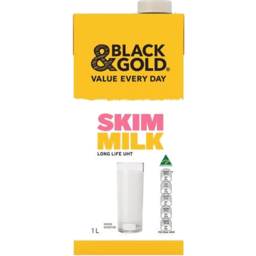 Photo of Black & Gold Skim Long Life Milk 1Ltr