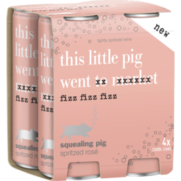 Photo of Squealing Pig Spritzed Rosé Cans