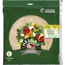 Photo of Helgas Wholemeal Wraps 8pk