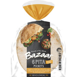 Photo of Bazaar Pita Pocket Wholemeal 6pk