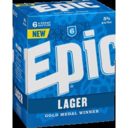 Photo of Epic Lager 330ml Bottles 6pk
