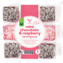 Photo of WW Lamingtons Chocolate & Raspberry Mini 9 Pack