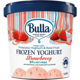 Photo of Bulla Strawberry Frozen Yoghurt 1l