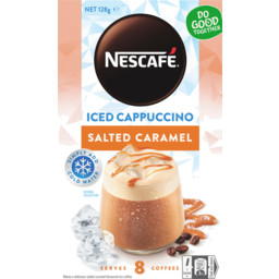 Photo of Nescafe Salted Caramel Iced Cappuccino Coffee Sachet 8 Pack 128g