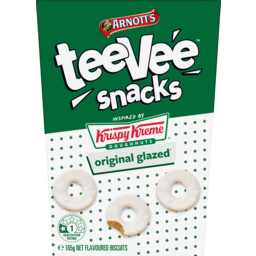 Photo of Arnotts Tee Vee Snacks Krispy Kreme Orginal Glazed Flavoured Biscuits 165g