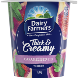 Photo of Dairy Farmers Thick & Creamy Caramelised Fig Yoghurt 150g