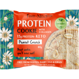 Photo of Food To Nourish Cookie Protein Peanut Butter 60g