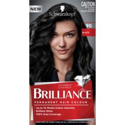 Photo of Schwarzkopf Brilliance Black 90 Permanent Hair Colour One Application
