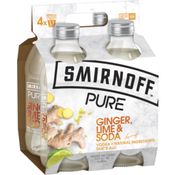 Photo of Smirnoff Pure Ginger Lime & Soda Stubbies