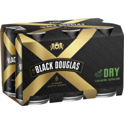 Photo of Black Douglas & Dry Can 375ml 6 Pack